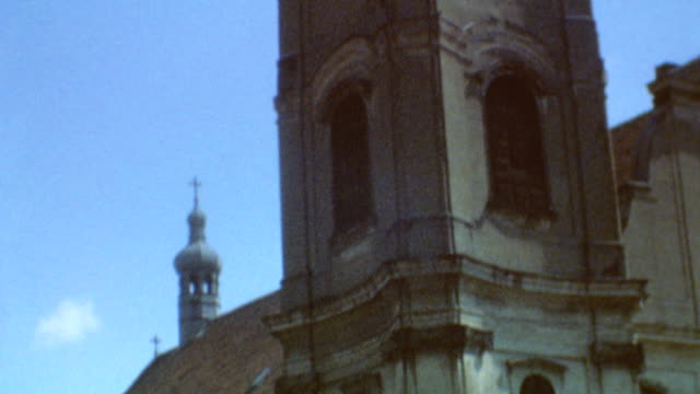 views of matthias church / buildings and streets / maxim hotel / matthias church on june 08 1969 in budapest hungary - gothic stock videos & royalty-free footage