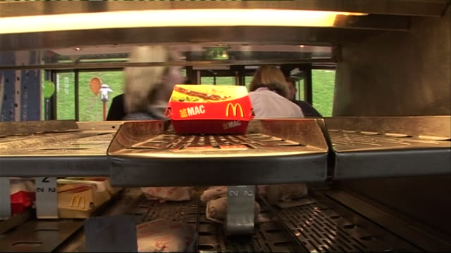 views of mcdonald's burgers being prepared - mcdonald's stock videos & royalty-free footage