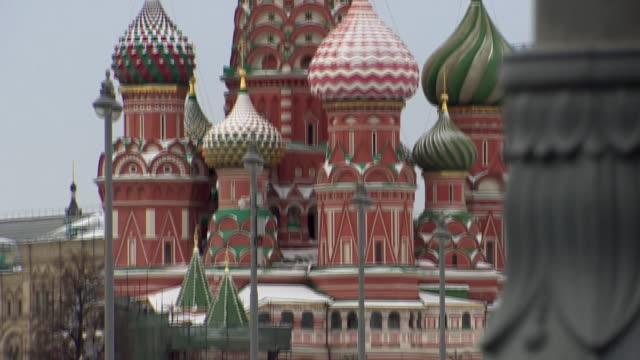 views of moscow during coronavirus lockdown - moskva bildbanksvideor och videomaterial från bakom kulisserna