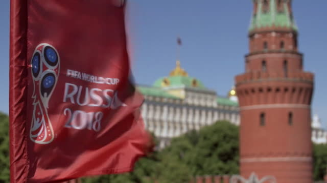 views of moscow landmarks before the start of the 2018 fifa world cup - fifa stock videos & royalty-free footage