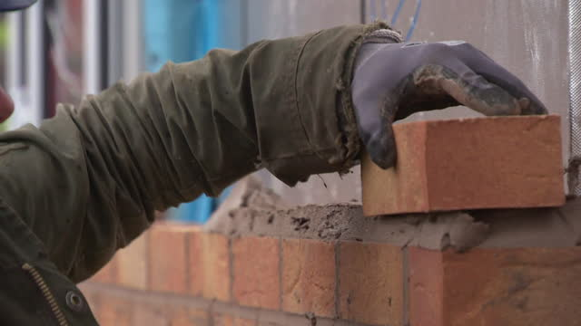 views of new homes being built - construction industry stock videos & royalty-free footage