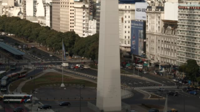 vídeos y material grabado en eventos de stock de views of obelisco de buenos aires a national historic monument and icon of buenos aires shot on june 11th 2014 - obelisco de buenos aires
