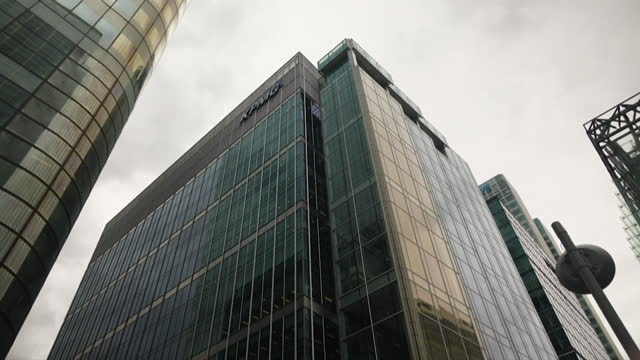 views of office blocks in the city of london - capital cities stock videos & royalty-free footage