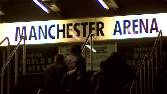 views of people at the manchester arena - lobby stock videos & royalty-free footage