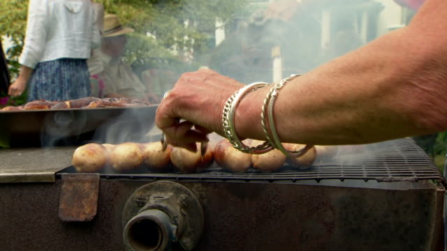 views of people enjoying barbeques - low section stock videos & royalty-free footage