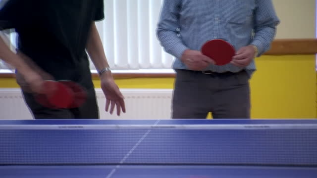 views of people playing table tennis - table tennis bat stock videos & royalty-free footage