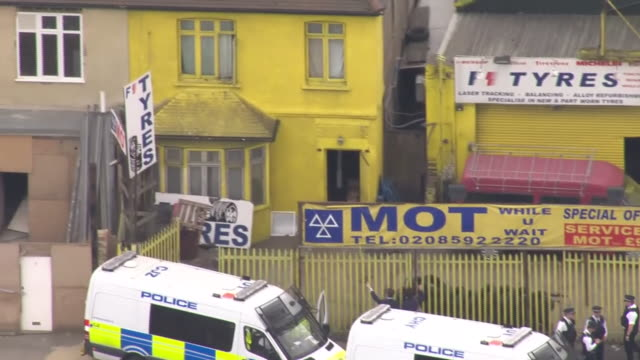 Views of police raids in various addresses during the investigation into the London Bridge and Borough Market terror attacks