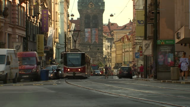 views of prague czech republic - bロール点の映像素材/bロール