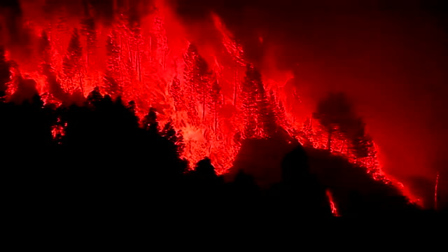 views of raging forest fires in the pedrogao grande region of portugal - portugal stock videos & royalty-free footage