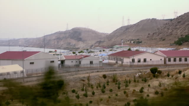 views of refugee camps in turkey - flüchtlingslager stock-videos und b-roll-filmmaterial