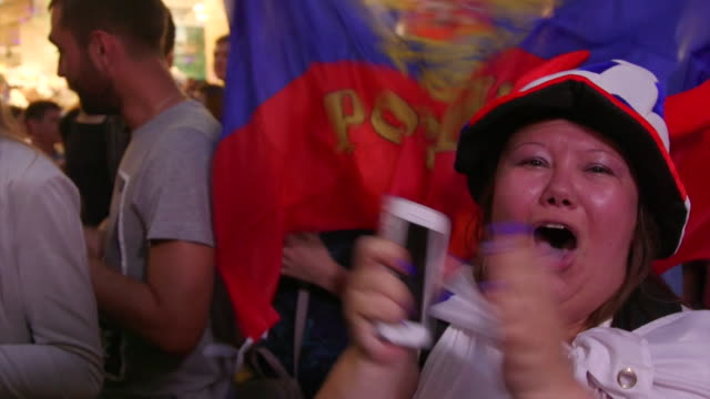 views of russian and other football fans in moscow during the 2018 world cup - soccer competition stock videos & royalty-free footage