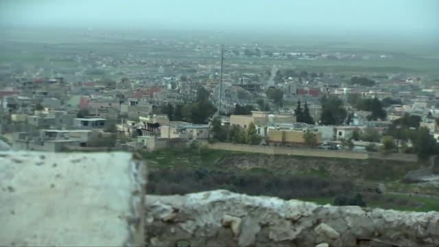 views of shelling in qamishli syria - sgranata video stock e b–roll