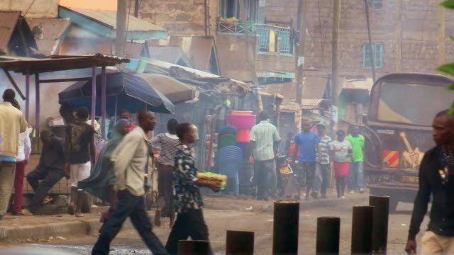 views of shopping streets in an impoverished area of nairobi, kenya. - nairobi stock videos and b-roll footage