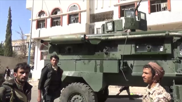 views of soldiers and armoured vehicles in sana'a during recent conflict in yemen's civil war nnbz199e absa627d - yemen stock videos and b-roll footage