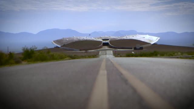 views of spaceport america in new mexico - new mexico stock videos & royalty-free footage