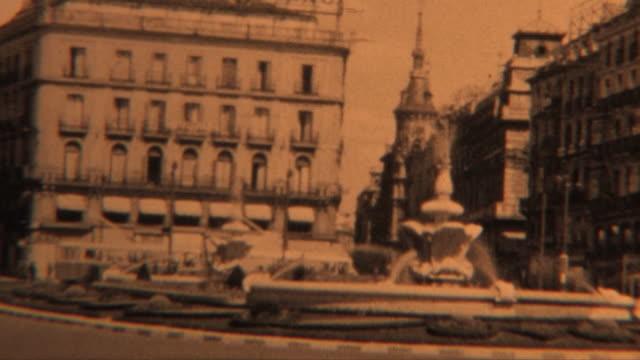 vídeos y material grabado en eventos de stock de archivo vista de españa (1952 - madrid