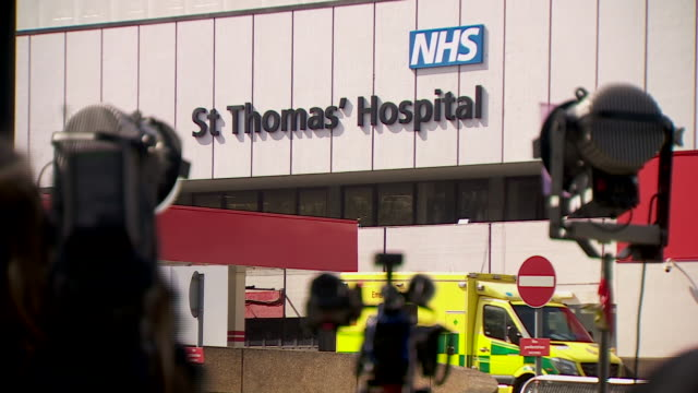views of st thomas' hospital after boris johnson was moved to intensive care with coronavirus - pandemic illness stock videos & royalty-free footage