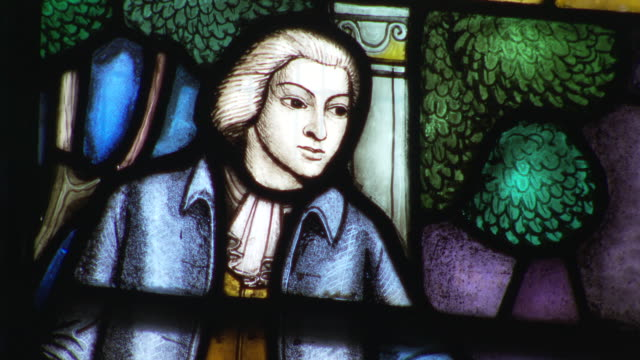 views of stained glass commemorating abolitionists - 18th century stock videos and b-roll footage