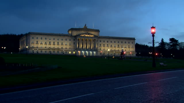 views of stormont in the early morning - male likeness stock videos & royalty-free footage