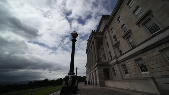 views of stormont - politics stock videos & royalty-free footage