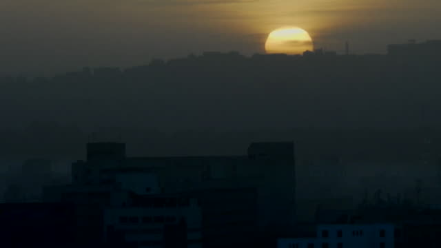 views of sunrise over cairo egypt - morning stock videos & royalty-free footage