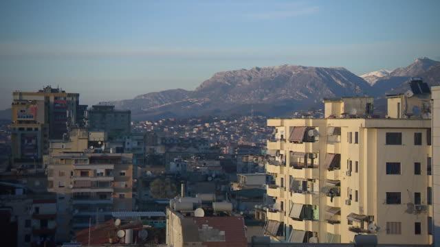 views of the albanian capital city tirana - tirana stock videos & royalty-free footage