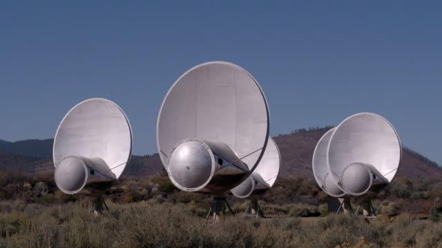 views of the allen telescope array, california - trade union stock videos & royalty-free footage