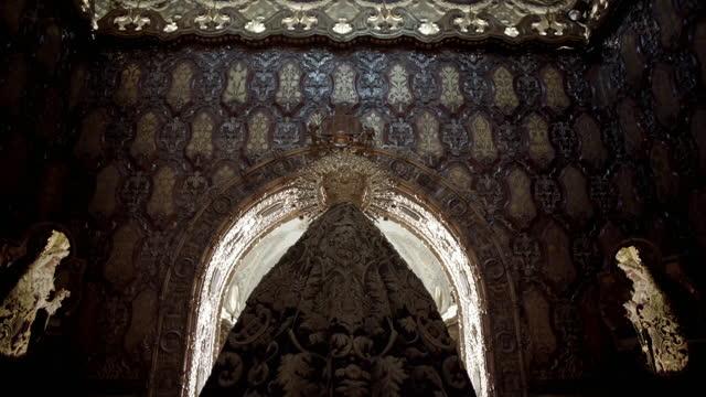 views of the basilica de macarena - female likeness stock videos & royalty-free footage