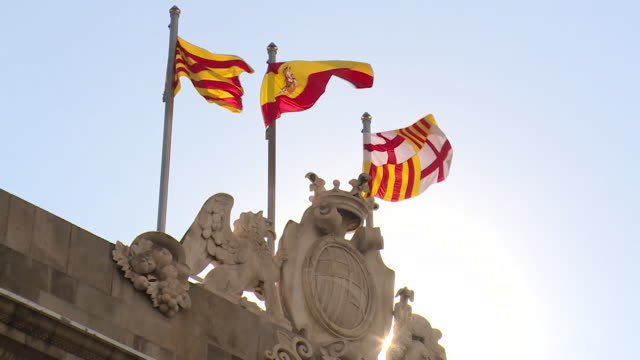 Views of the Catalonia government building after it was taken over by the Spanish government following what it calls an 'illegal' independence...
