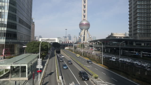 views of the city during the first day of work after the extended chinese new year holiday in shanghai china on monday 10 february 2020 - oriental pearl tower shanghai stock videos & royalty-free footage