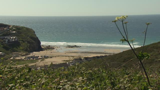 vídeos y material grabado en eventos de stock de views of the cornwall coast - cornwall inglaterra