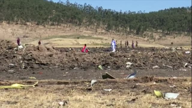 views of the crash site of flight et302 in ethiopia - boeing stock videos & royalty-free footage