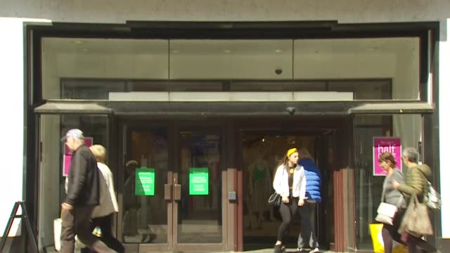 views of the debenhams store in folkestone which is due to close - shop stock videos & royalty-free footage