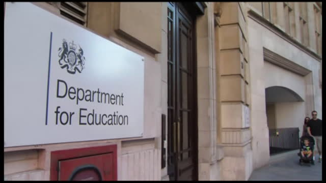 views of the department for education building - pavement stock videos & royalty-free footage