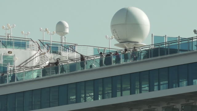 views of the diamond princess cruise ship held in quarantine in yokohama japan due to a coronavirus outbreak - vehicle interior stock videos & royalty-free footage