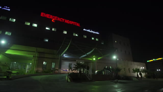 Views of the emergency hospital in Irbil Iraq just outside the Islamic State stronghold of Mosul