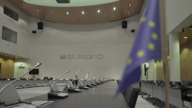 Views of the Europol boardroom in The Hague Netherlands