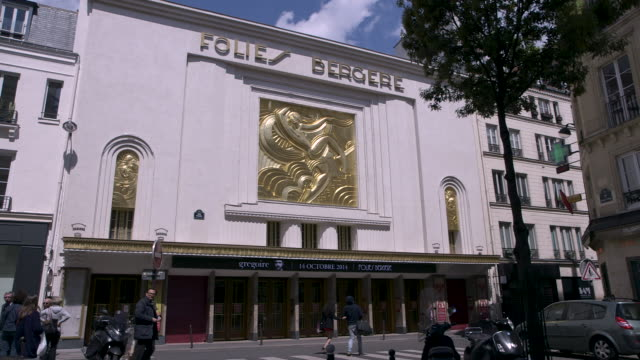 views of the exterior of the folies bergère - cabaret stock videos & royalty-free footage