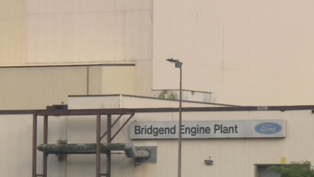 Views of the Ford car plant in Bridgend