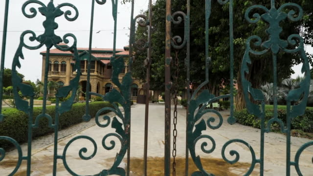 views of the former karachi home of muhammad ali jinnah founder of pakistan - pakistani flag stock videos and b-roll footage
