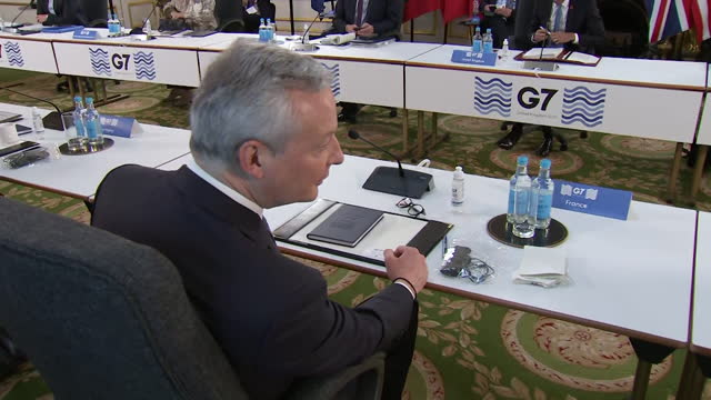 views of the g7 finance ministers meeting in london - table stock videos & royalty-free footage