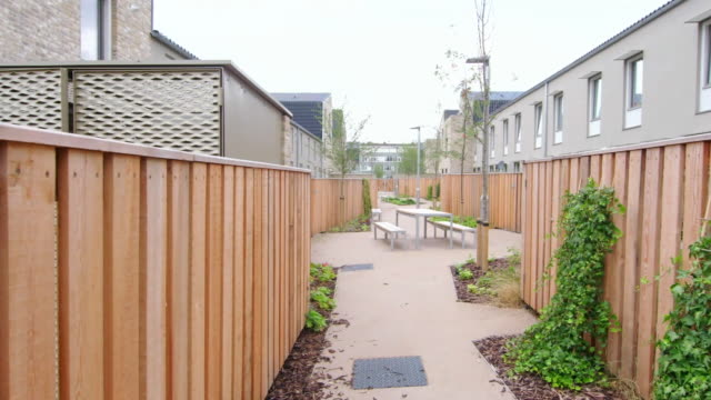 views of the goldsmith street housing development in norwich which won the stirling prize - council flat stock videos & royalty-free footage