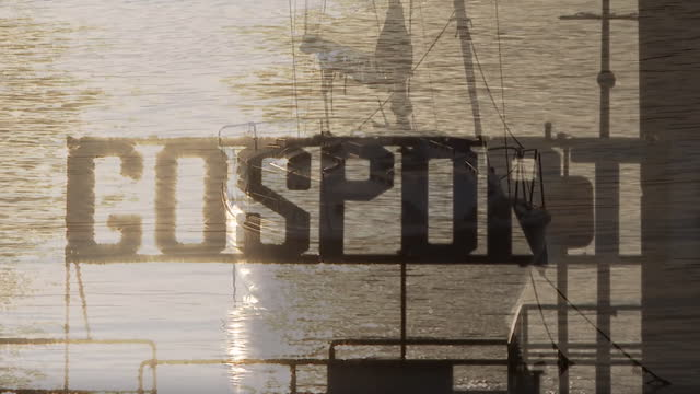 views of the gosport waterfront - western script stock videos & royalty-free footage