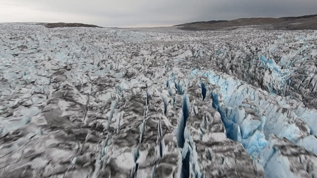 views of the greenland ice sheet - greenland stock videos & royalty-free footage