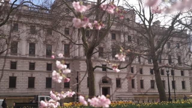 views of the hm treasury building - politics stock videos & royalty-free footage