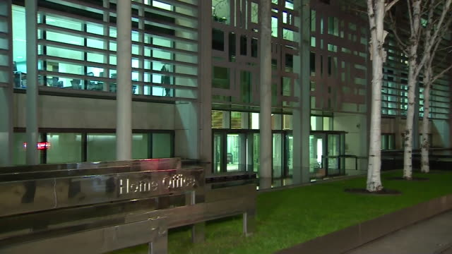 Views of the Home Office building at night