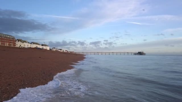 views of the kent coast and deal pier - sand stock videos & royalty-free footage