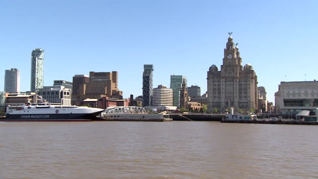 views of the mersey ferry and the river mersey - ferry stock videos & royalty-free footage