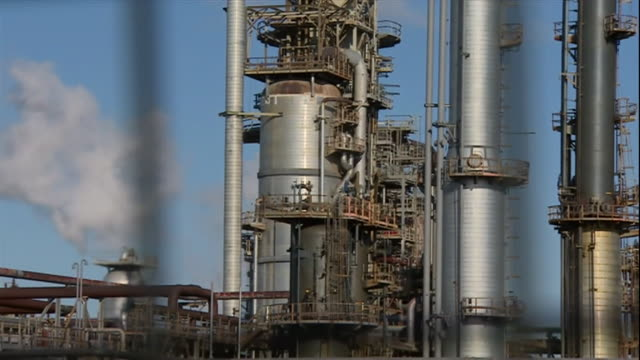 views of the pembroke refinery - oil industry stock videos & royalty-free footage
