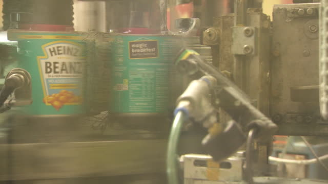 views of the production line inside the heinz factory in wigan - food stock videos & royalty-free footage